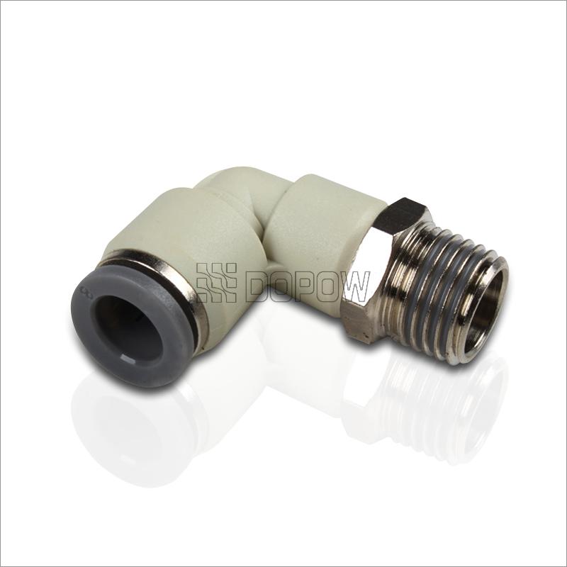 PL 快插接头 L型快速接头 气管气缸电磁阀接头 直角 1. 全检在8公斤的压力下经过漏气检测,确保产品稳定. 2.耐高压30公斤压力下保持两个小时不会出现任何问题. 3.所有锥管螺纹预涂聚四氟乙烯防漏胶,密封性能好 4.温度范围:0~1.0MPa(0~150PSI). 5.压力范围:0~60C(32~140F).